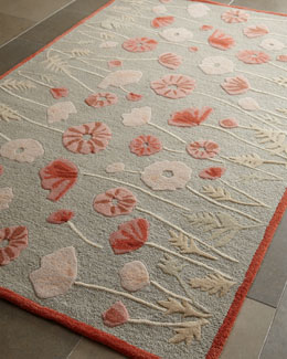 Poppy Glossary Rug, 5' x 8'