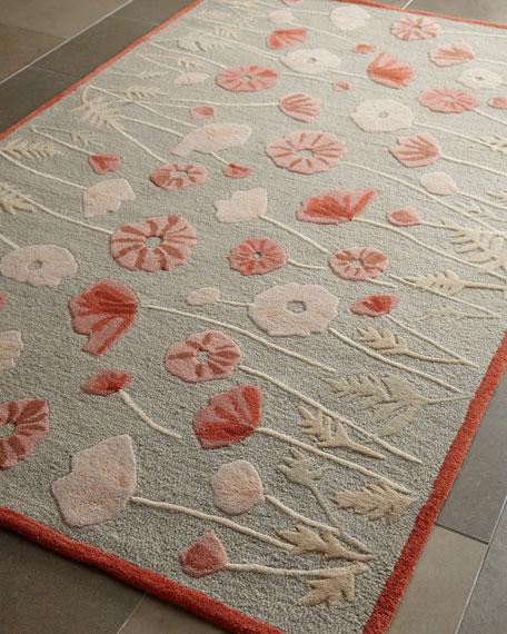 Poppy Glossary Rug, 4' x 6'