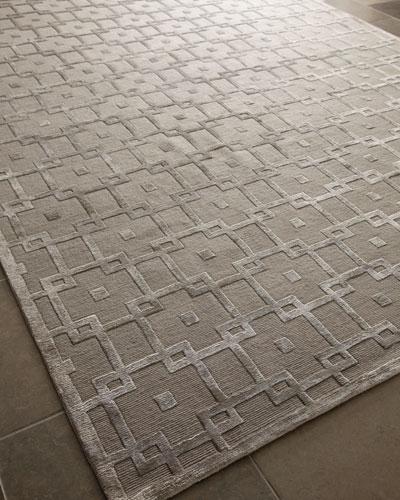 Silver Blocks Rug  4' x 6'