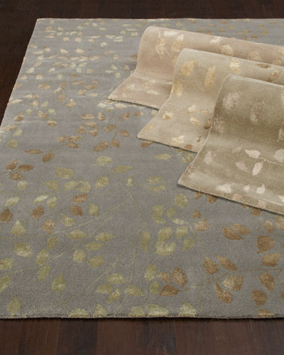 Tufted Leaves Rug  6' x 9'