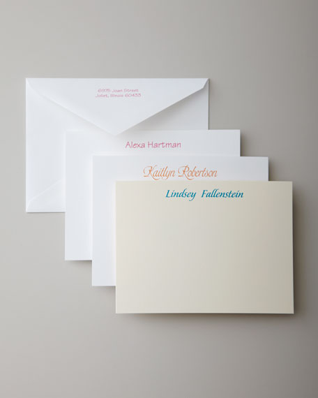 Carlson Craft 50 Casual Correspondence Cards with Plain