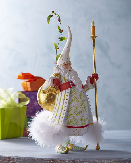 Candlelight Santa Figure