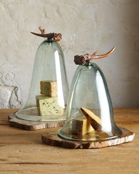 Medium Antler Cheese Dome