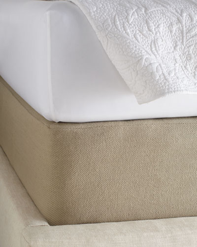 Queen Twill Box Spring Cover  62 x 83 with 15 pocket
