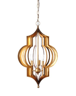 Pattern Makers Large Golden Three-Light Pendant