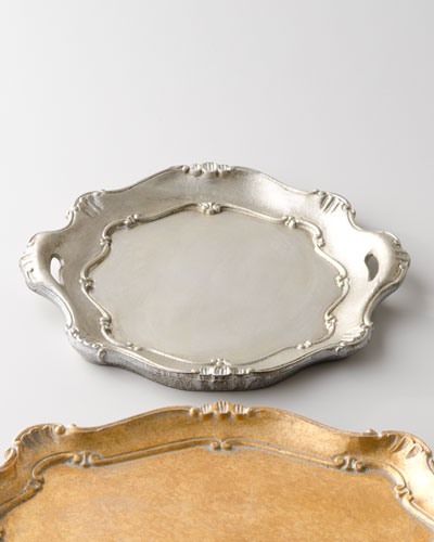 Silver Round Handled Charger Plate
