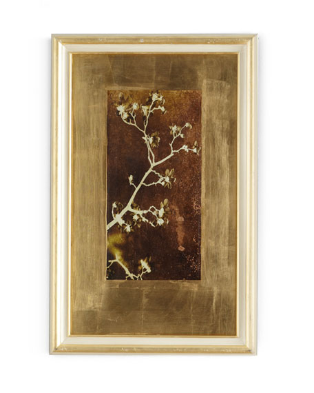 """Gold Leaf Branches I"" Print"