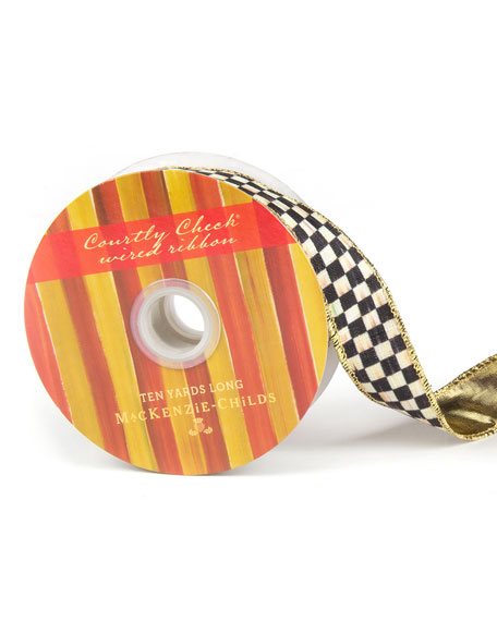 """Courtly Check 1"""" Ribbon"""