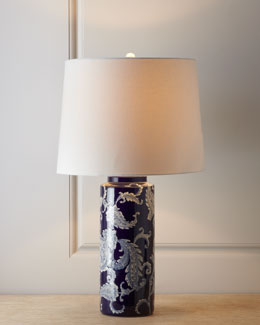 Tri-Ever Enterprise Blue Paisley Lamp