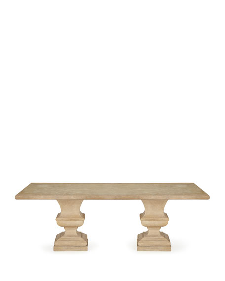 Alexandra Outdoor Double-Urn Pedestal Table