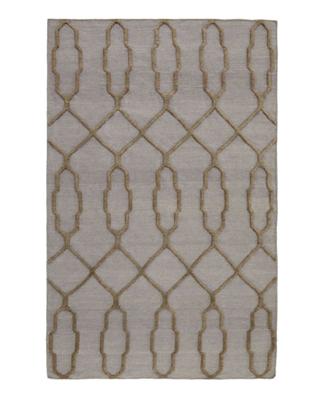 "Diamond Key Rug, 3'6"" x 5'6"""