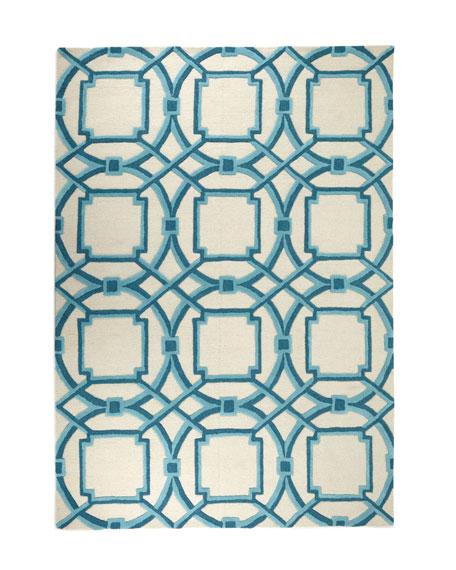 Interlaced Arabesque Rug, 8' x 10'