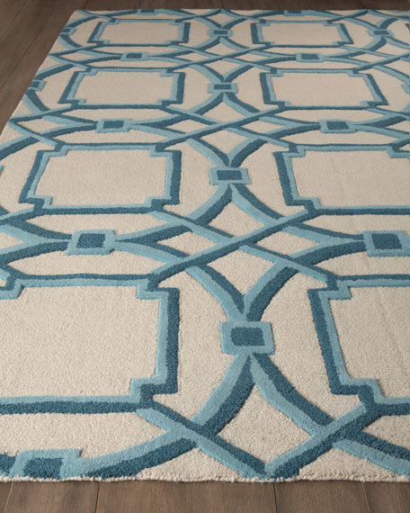Interlaced Arabesque Rug, 8' x 10'