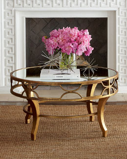 """""""Lena"""" Mirrored-Top Coffee Table"""