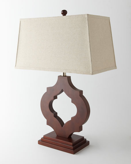 """Tangier"" Wooden Lamp"