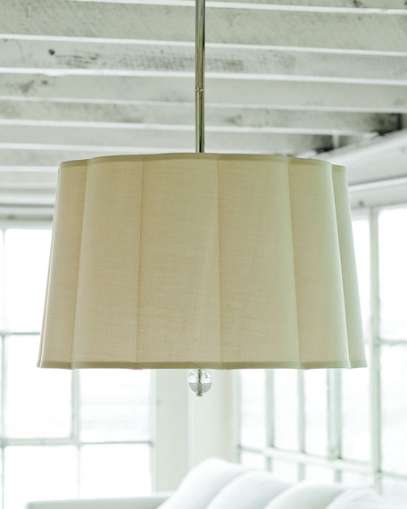 Scalloped-Shade 2-Light Pendant