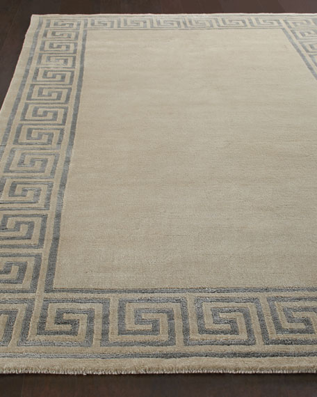 Greek-Key Border Rug, 7'9
