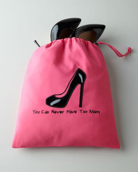 Hot Pink Shoe Bag