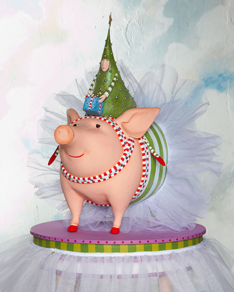 Joyful Pig with Tree Rider