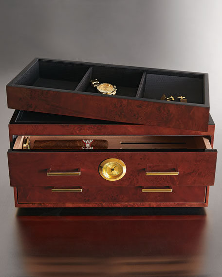 Humidor with Two Drawers