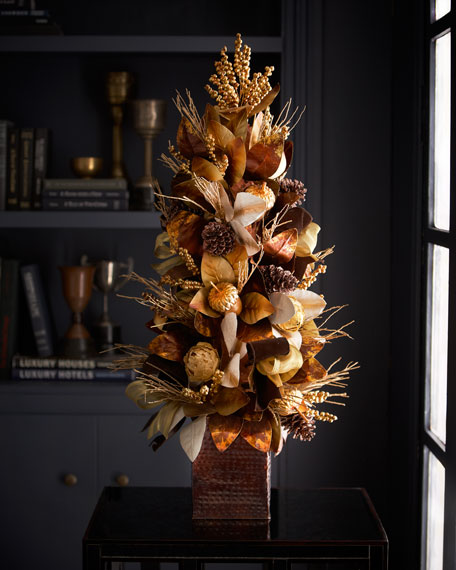 """36"""" Chocolate, Copper, and Gold Tree"""