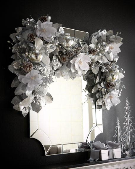White & Silver Garland, 6'L