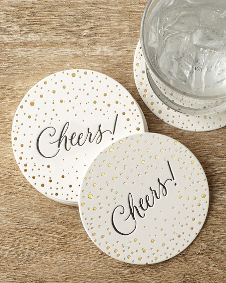 Bubbly Cheers Coasters
