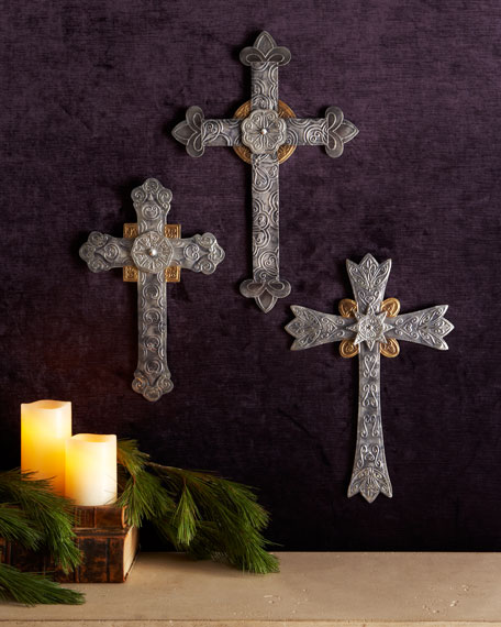 Three Old World Wall Crosses