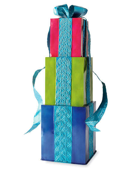 Stack of Presents with Bow Decoration