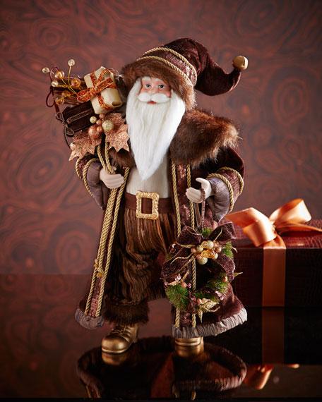 Chocolate, Copper, and Gold Santa