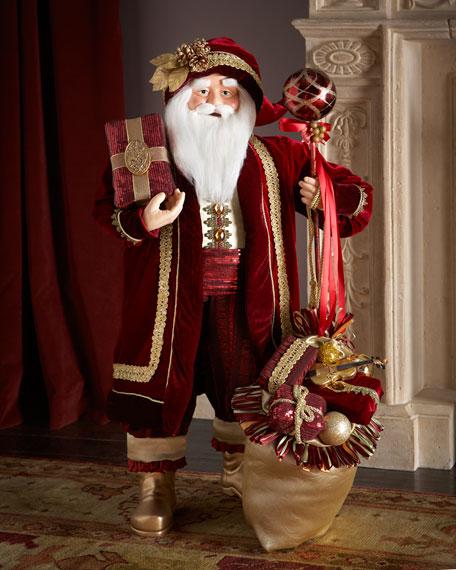 """36"""" Burgundy Santa"""