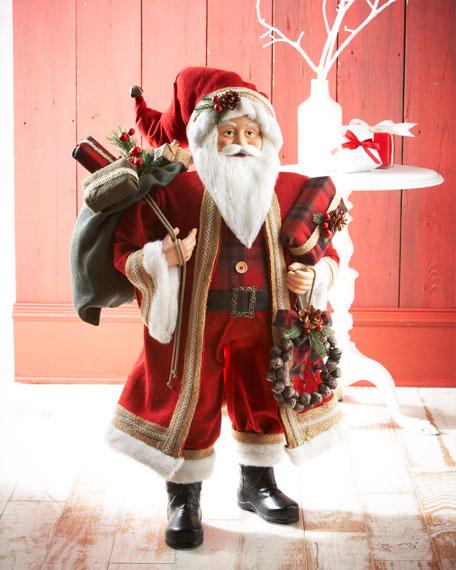 "36"" Classic Red Santa Figure"
