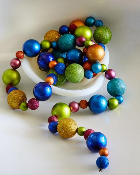 6' Multicolored Ball Garland