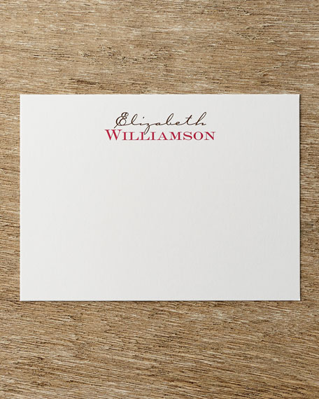 25 Two-Tone Correspondence Cards with Personalized Envelopes