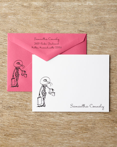 50 Diva Correspondence Cards with Personalized Envelopes