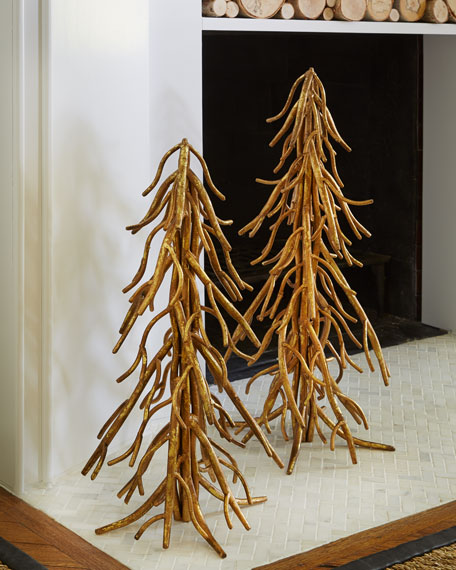 Two Italian-Gold Twig Trees