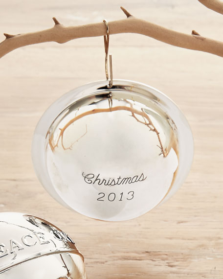 2013 Sterling Ball Christmas Ornament