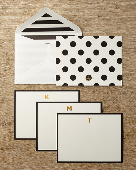 Monogram Correspondence Cards