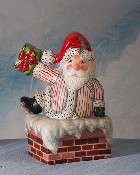 Santa Climbing in Chimney Figure