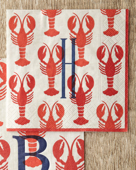 100 Lobster Cocktail Napkins