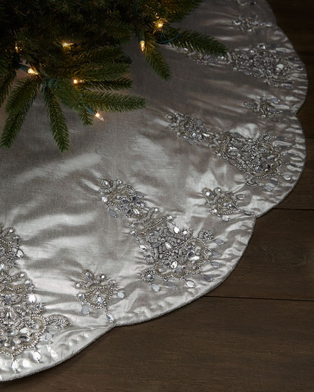 Kim Seybert Chandelier Christmas Tree Skirt