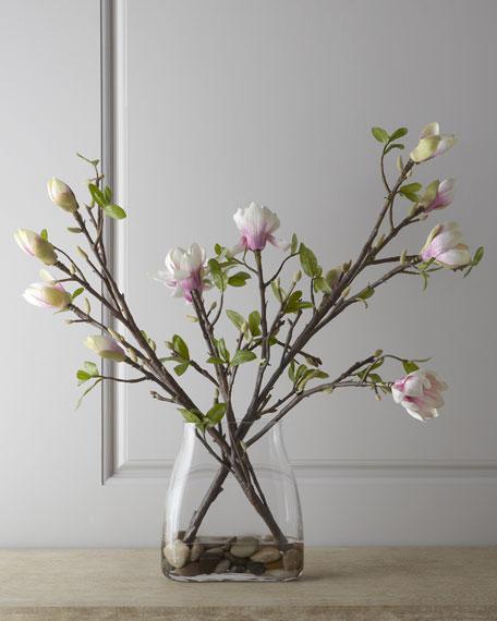 Japanese Magnolia Faux Floral Arrangement