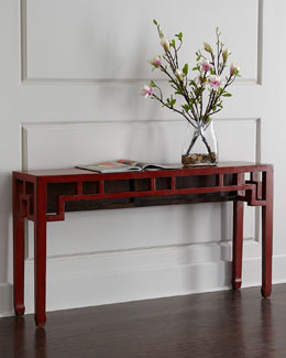 Red Vintage Wooden Table
