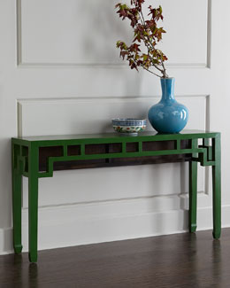 Green Vintage Wooden Table