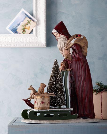 Santa Pushing a Sled