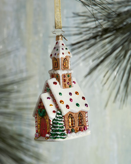 Candied Cathedral Christmas Ornament