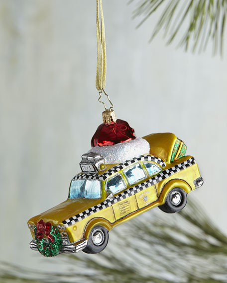 Christmas in the City New York Cab Christmas Ornament
