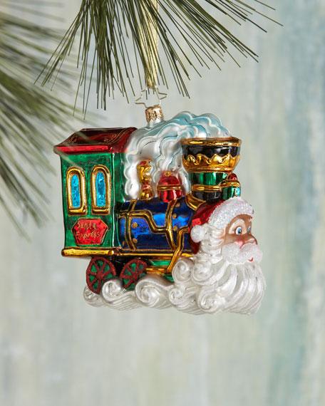 Choo Choo Claus Christmas Ornament