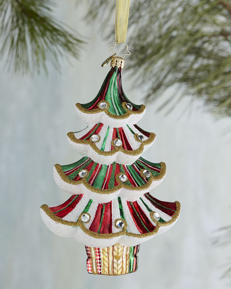 Spiral Spruce Christmas Ornament