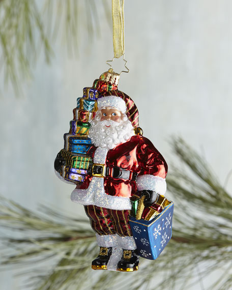 After Christmas Furniture Sales: Christopher Radko Let's Go Shopping Santa Christmas Ornament